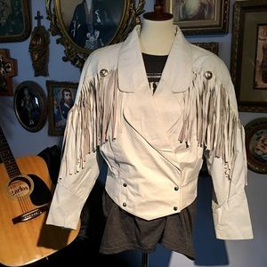 Outerbound BY HMS VTG Leather Fringe Jacket MED